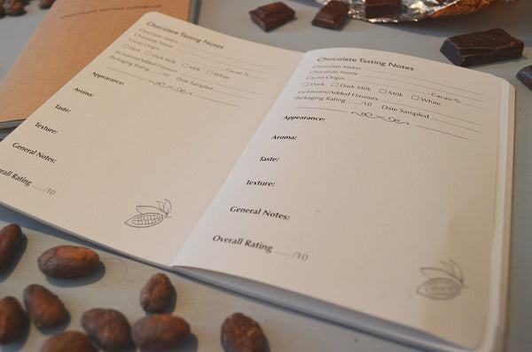 The Chocolate Bar bean-to-bar chocolate tasting notebook