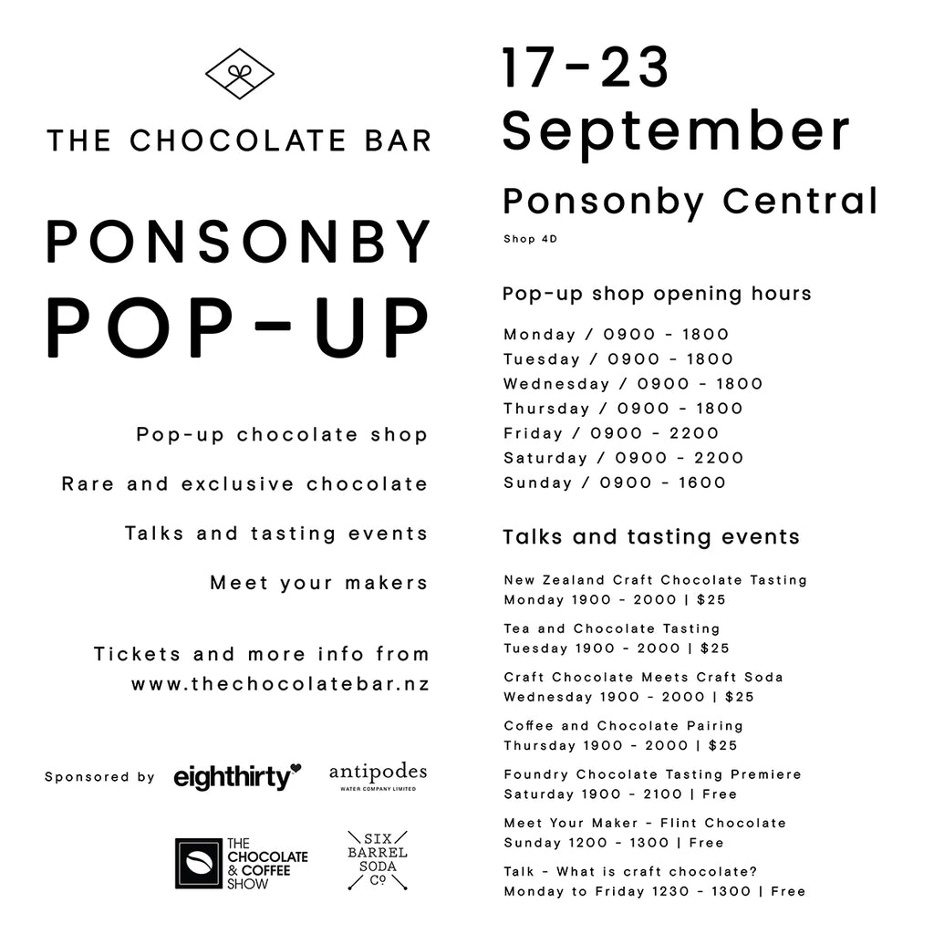 the chocolate bar ponsonby pop up