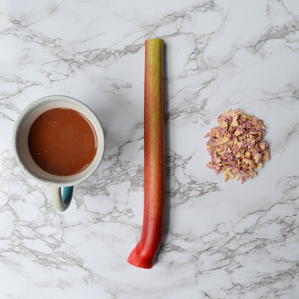 rhubarb and rose hot chocolate hogarth craft artisan