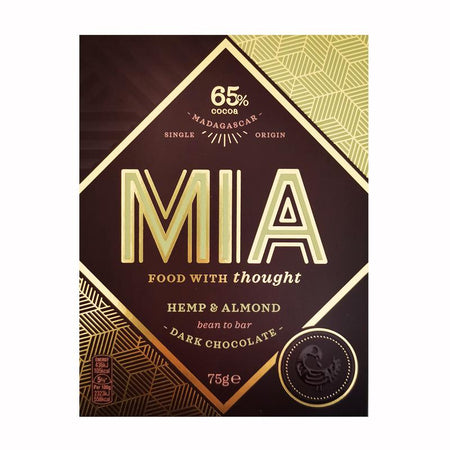 MIA Hemp & Almond Dark Chocolate