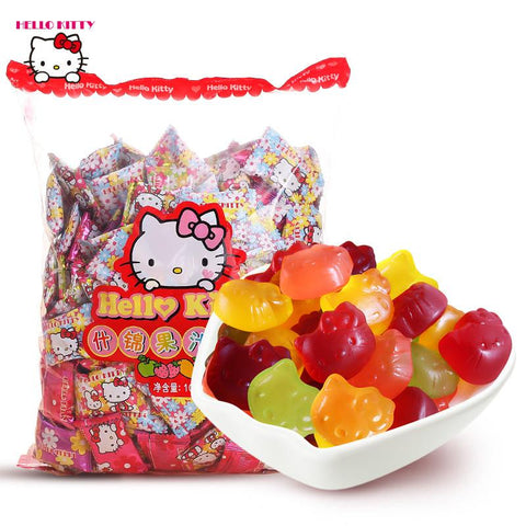 【hello kitty】果汁软糖1000g 水果味qq橡皮糖