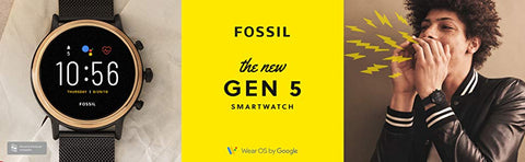 Fossil Gen 5 FTW4025 Carlyle Stainless Steel Touchscreen Smartwatch