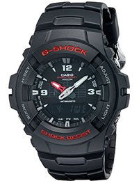 Casio Men's G100-1BV G-Shock Watch in Black Resin