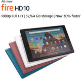 "Fire HD 10 Tablet | 10.1"" 1080p Full HD display, 32 GB, Plum 9th generation - 2019 release"