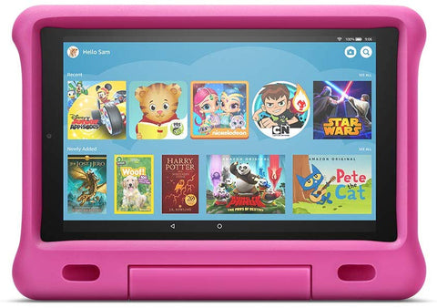 "Kindle Fire HD 10 Kids Edition Tablet – 10.1""  9th generation - 2019 release full HD display, 32 GB, Pink Kid-Proof Case"