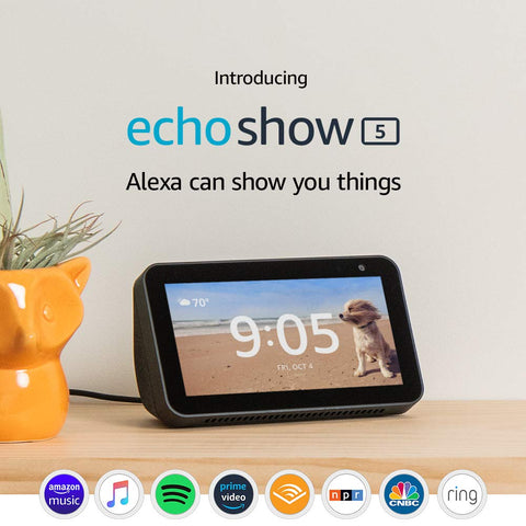 Echo Show 5 – Compact smart display with Alexa - Charcoal