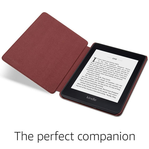 Kindle Paperwhite Leather Cover (10th Generation-2018 Model) Merlot