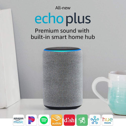 Amazon Echo Plus (2nd Gen)- Heather Gray