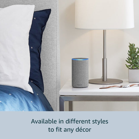 *FREE SHIPPING IN STOCK*Echo - Smart speaker with Alexa - Heather Gray Fabric