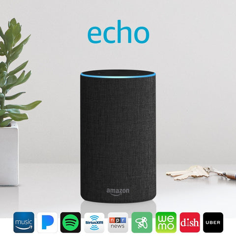 *FREE SHIPPING IN STOCK*Echo - Smart speaker with Alexa - Charcoal Fabric