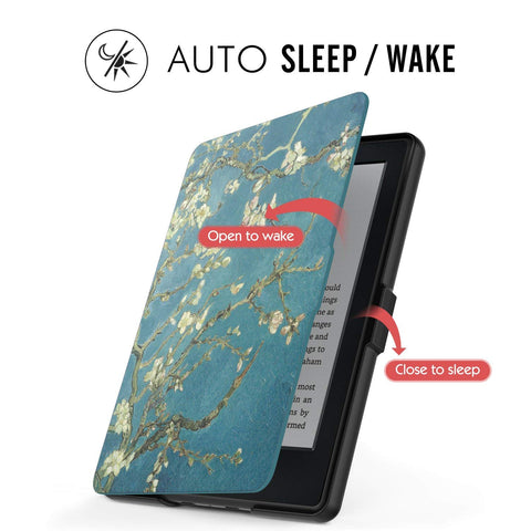 Case  Kindle E-reader (8th Generation 2016) -Almond blossom*FREE SHIPPING IN STOCK*