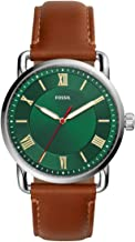 Fossil Men's Copeland Stainless Steel Quartz Watch with Leather Strap FS5737