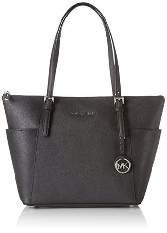 MICHAEL Michael Kors Women's Jet Set Top Zip Tote BLACK