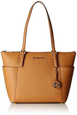 MICHAEL Michael Kors Women's Jet Set Top Zip Tote TAN Acorn