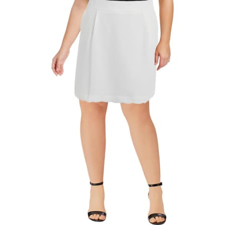 Tommy Hilfiger Womens Ivory Textured Scalloped A-Line Skirt 12*IN STOCK*