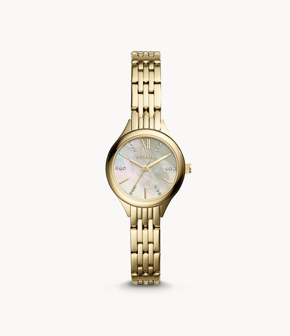 Fossil Women's Suitor BQ3334 White Mother-of-Dial Dial Watch""