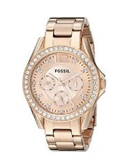 Fossil Ladies ES2811 Riley Rose Gold-Tone Watch