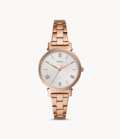Fossil Women's Daisy Stainless Steel Casual Quartz Watch ES4791