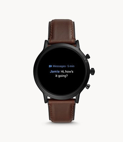 Fossil Gen 5 Carlyle FTW4026 Stainless Steel Touchscreen Smartwatch with Speaker, Heart Rate, GPS, NFC, and Smartphone Notifications