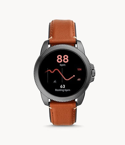 Fossil Men's Gen 5E 44mm Stainless Steel Touchscreen Smartwatch with Speaker, Heart Rate FTW4055