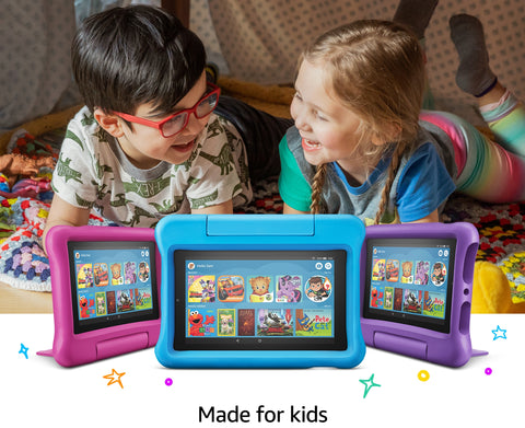 **FREE SHIPPING IN STOCK**Fire 7 Kids Edition Tablet 16 GB, Blue Kids Case
