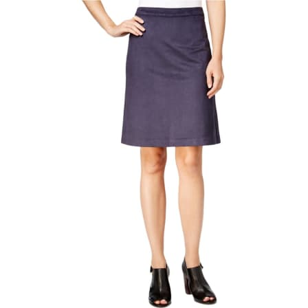 Tommy Hilfiger Womens Navy Faux Suede Knee Length Skirt USA10*IN STOCK*