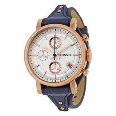 Fossil Women's ES3838 Original Boyfriend Chronograph Leather Watch*//IN STOCK//*