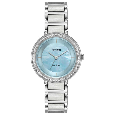 *FREE SHIPPING IN STOCK*Citizen EM0480-52N Eco-Drive Women's Silhouette Crystal Accents 30mm Watch