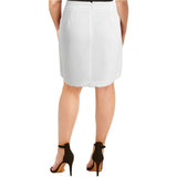 Tommy Hilfiger Womens Ivory Textured Scalloped A-Line Skirt 6*IN STOCK*Brand New