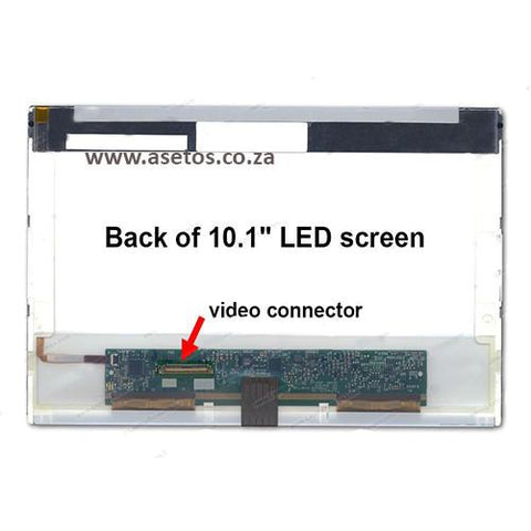 "10.1"" 40 Pin LED Laptop Screen With Bottom Left Connector (Resolution = 1024*600)"