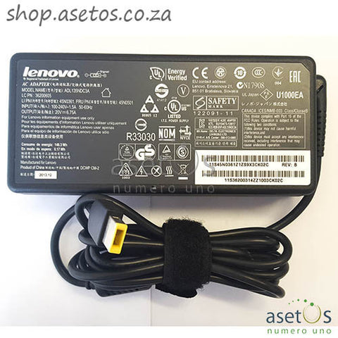 135w Lenovo USB Replacement Laptop Charger (20V, 6.75A)