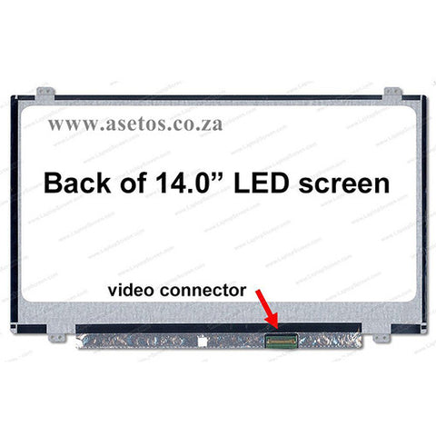 "14.0"" 30 pin Slim HD LED Replacement Laptop Screen With Bottom Right Connector (Resolution = 1366*768 )"