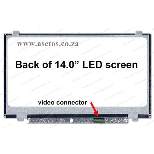 "14.0"" 40 pin Slim HD LED Replacement Laptop Screen With Bottom Right Connector (Resolution = 1366*768 )"