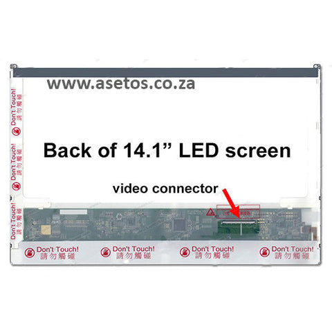 "14.1""  30 pin LED Laptop Screen with Bottom Right Connector (Resolution = 1440*900)"