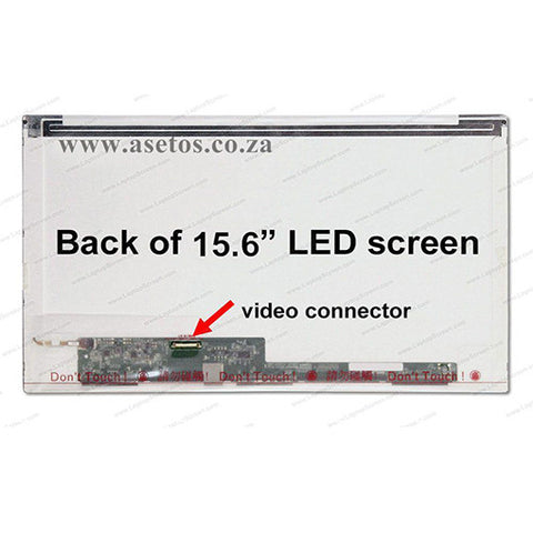 15.6 inch 30 Pin Normal HD LED Replacement Laptop Screen With Bottom Left Connector (Resolution = 1366*768 )
