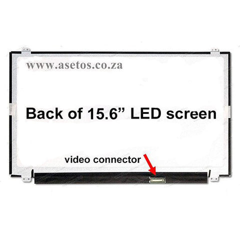 "15.6"" 30 Pin Slim HD LED Laptop Screen With Bottom Right Connector (Resolution = 1366*768 )"