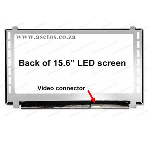 "15.6"" 40 Pin Slim HD LED Laptop Screen With Bottom Right Connector (Resolution = 1366*768 )"