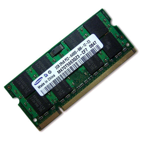 2GB DDR2 800MHZ PC2-6400 SO-DIMM 200PIN Mix-Branded Notebook Laptop Memory RAM (Refurbished 1 x 2GB Module)