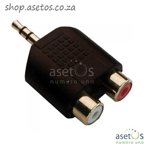 3.5MM Aux Male - 2 Female Splitter