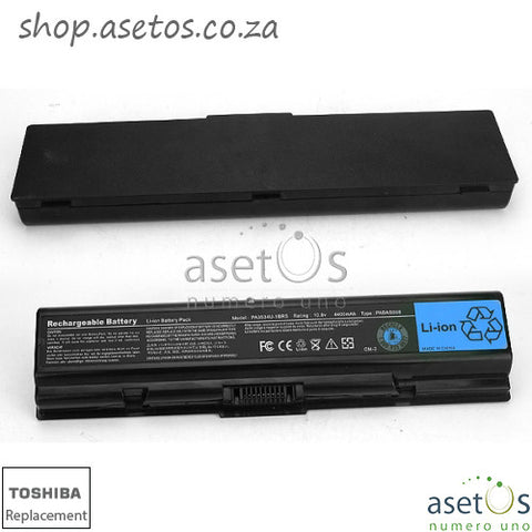 Battery for Toshiba PA3534U Black, 10.8V 4400mAh/ 48Wh