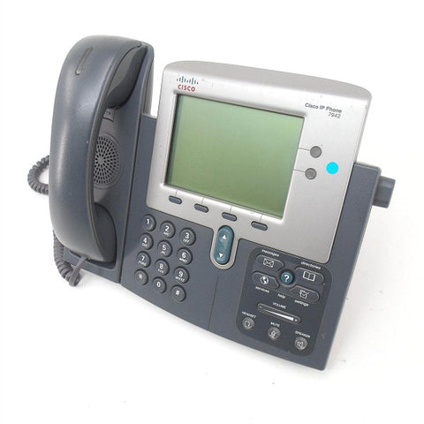 Cisco 7942G 7900 Series Unified IP PoE VoIP Phone CP-7942G POE Support (Refurbished)