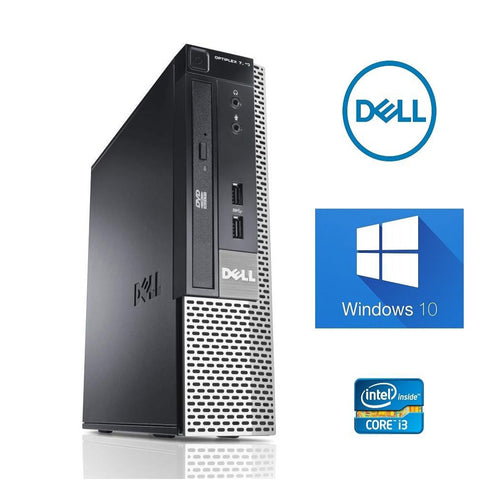 Dell OptiPlex 7010 USFF Desktop Computer - Intel Core i3-3220 Dual Core, 3.30GHz, 4GB MEM, 320GB HDD (Used/Refurbished)