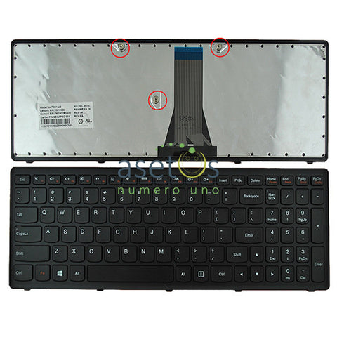 Lenovo IdeaPad FLEX 2-15, G505S, S500, S510, S510P Black Frame, Laptop Replacement Keyboard - US Layout