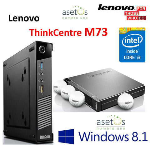 Lenovo ThinkCentre M73 Tiny Desktop: Core i3-4130T 4th Gen, 4GB DDR3, 320GB HDD, Win 8 Pro, Tough, Compact, Powerful (Used)