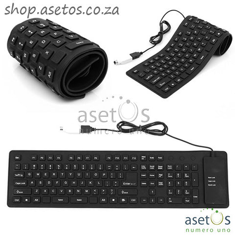 Flexible USB Keyboard | Portable, Flexible,  Fully Sealed Rubber Keyboard