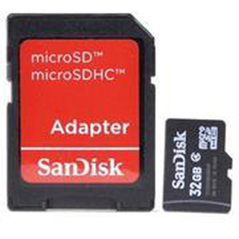 Sandisk 32GB Class 4 MicroSD Card (SDSDQM-032GB35A) - With SD Adapter, Retail Box , 1 year warranty