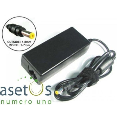 65W HP Generic AC Adapter / Laptop Charger with Yellow Tip | 18.5V, 3.5A (4.8*1.7mm)