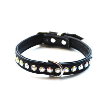 Ashley Designer Black Dog Collar - Snooty Paws