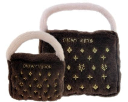 Chewy Vuiton Handbag Toy - Snooty Paws