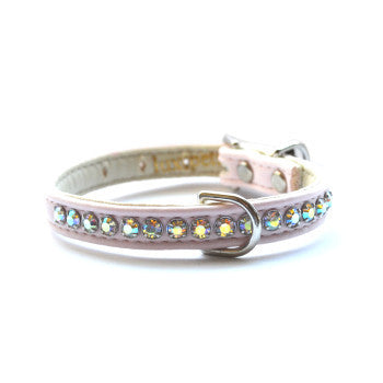 Jackie O Designer Light Pink Dog Collar - Snooty Paws